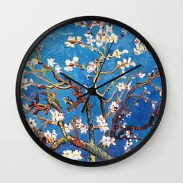 Van Gogh Branches of an Almond Tree in Blossom Wall Clock