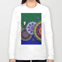 india Long Sleeve T-shirts featuring Blooming India by Robin Curtiss
