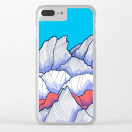 The Ice White Rocks Clear iPhone Case