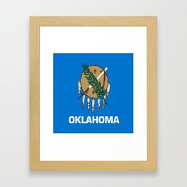 flag of oklahoma-Oklahoma,south,Oklahoman,Okie, usa,america,Tulsa,Norman,Broken Arrow Framed Art Print