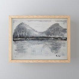 Black & White Mountains Framed Mini Art Print