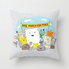 Paper Hugs Rock Throw Pillow