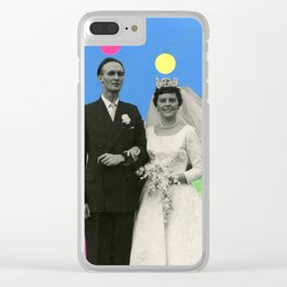 Suspect Couple Clear iPhone Case