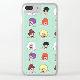 Moustaches and Wigs (pattern) Clear iPhone Case