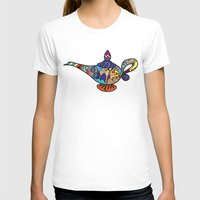 aladdin T-shirts featuring Looking for the genie by Ilse S