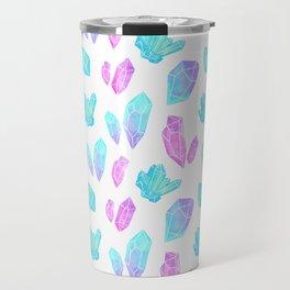 Pastel Watercolor Crystals Travel Mug