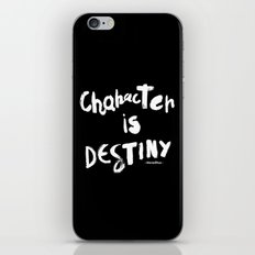 Character Is Destiny - Heraclitus iPhone & iPod Skin