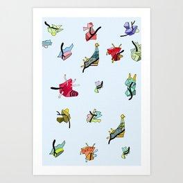 WISHBONE PRISM Art Print