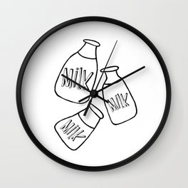 Baby bottle of Milk, kids room and nursery deco Wall Clock