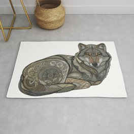Norse Wolf Rug