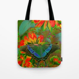 Extreme Emerald Swallowtail Butterfly Tote Bag
