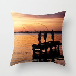 Casting Wide Throw Pillow