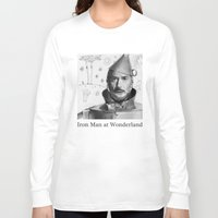 robert downey jr Long Sleeve T-shirts featuring Robert Downey Jr by Pazu Cheng
