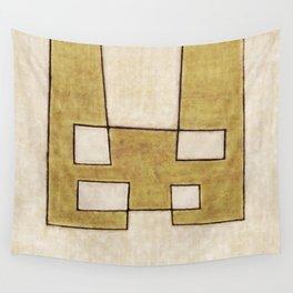 Protoglifo 06 'Mustard traverse cream' Wall Tapestry