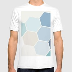 Hex MEDIUM White Mens Fitted Tee