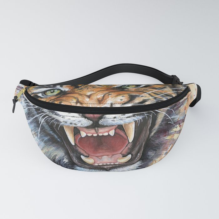 Tiger Roaring Wild Jungle Animal Fanny Pack