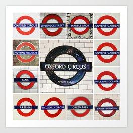London Tube Art Print