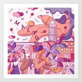 Malaga Art Print