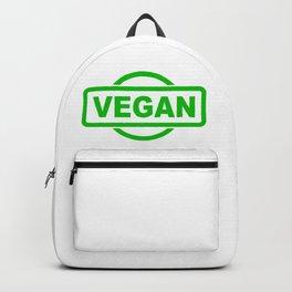 Vegan Green Rubber Stamp Backpack