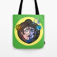 shiva Tote Bags featuring Shiva Parvati by Karthik