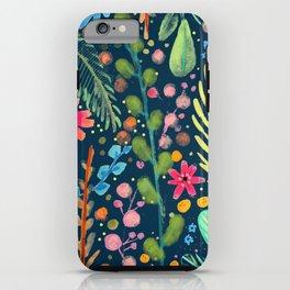 les prairies (navy) iPhone Case