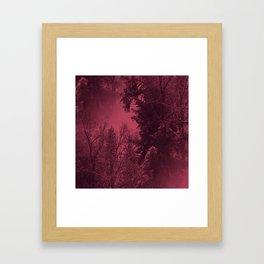 A cold wintry evening... Framed Art Print