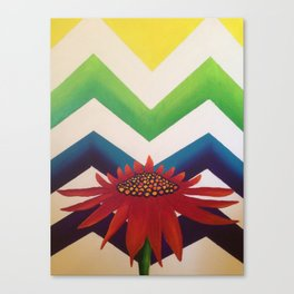 Daisy Chevron Canvas Print