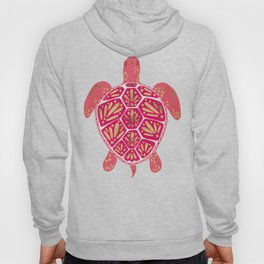 Sea Turtle in Pink & Gold Hoody