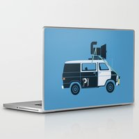 blues brothers Laptop & iPad Skins featuring The Blues Brothers' Van by Brandon Ortwein