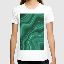Liquid Malachite Dream #1 #gem #decor #art #society6 T-shirt