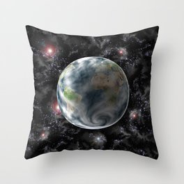 Planet Earth-Space Throw Pillow