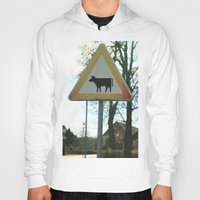 cows Hoodies featuring Attention cows by Falko Follert Art-FF77