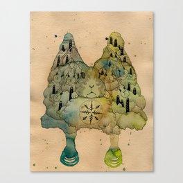 Rabbit Love Canvas Print