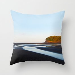 Black Sand Bethells Throw Pillow