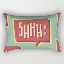 Shhh! (Shut Up) Rectangular Pillow