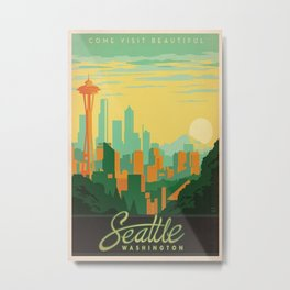 Vintage poster - Seattle Metal Print
