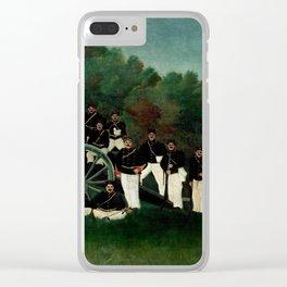 "Henri Rousseau ""The Artillerymen"", 1893 Clear iPhone Case"