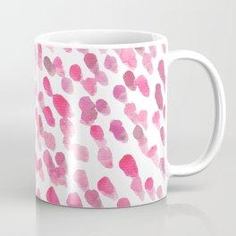 Imperfect brush strokes - pink Coffee Mug