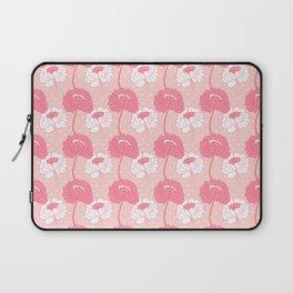 Peony Garden Peach Dots Laptop Sleeve