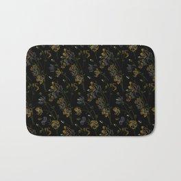 Poppy Floral - Black Bath Mat
