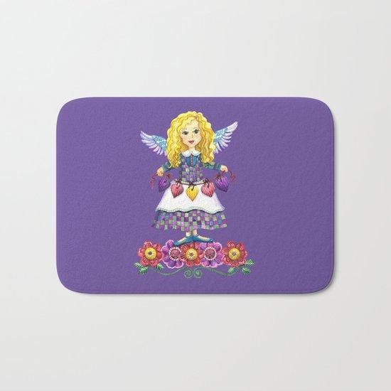 Angel Love (Purple) Bath Mat
