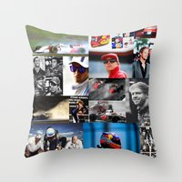 formula 1 Throw Pillows featuring Formula 1 Collage by Rassva