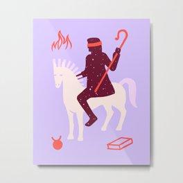Apocalypse Horseman of Ignorance Metal Print