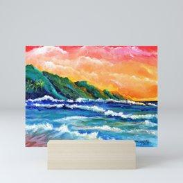 Romantic Kauai Sunset Mini Art Print