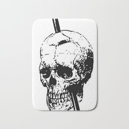 The Skull of Phineas Gage Vintage Illustration Bath Mat