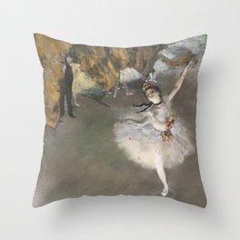 The Star - Edgar Degas Throw Pillow