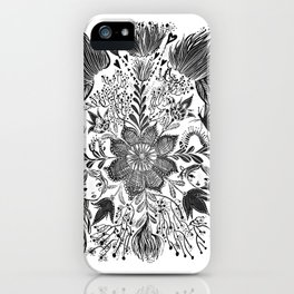 Me and you, day and night in our messy garden iPhone Case