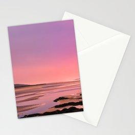 Pink Sunset Stationery Cards