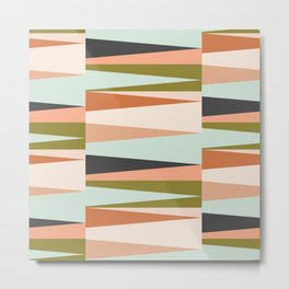 Scandinavian Geometry Pattern green #Homedecor Metal Print