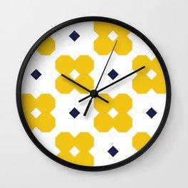 Yellow Octagons  Wall Clock